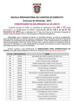 2014 CONVOCAÇÃO DA MAJORAÇÃO em 28 JAN 15