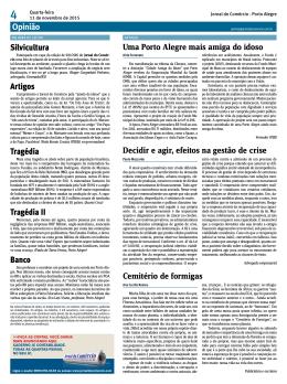 Opinião Artigos Tragédia Tragédia II Banco Uma Porto Alegre mais