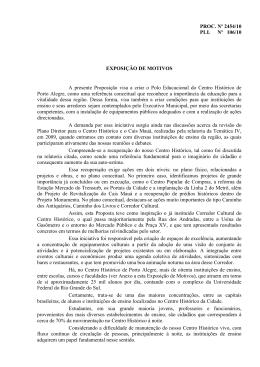PROC. Nº 2454/10 PLL Nº 106/10 EXPOSIÇÃO DE MOTIVOS A