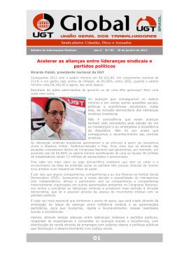 Acelerar as alianças entre lideranças sindicais e partidos