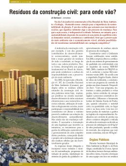 Resíduos da construção civil: para onde vão?