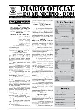Órgão de Comunicação Oficial da PMT R$ 2,00 Ano 2013
