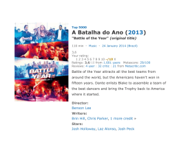 A Batalha do Ano (2013)