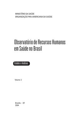 Observatório de Recursos Humanos em Saúde no Brasil