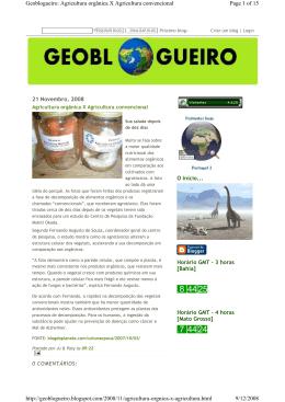 Agricultura orgânica X Agricultura convencional Geoblogueiro