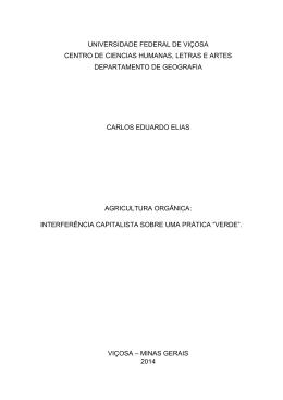 Carlos Eduardo Elias - Departamento de Geografia