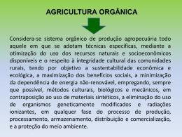 AGRICULTURA ORGÂNICA - Universidade Castelo Branco