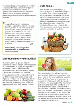 Page 1 035 Outubro 2015 Os princípios da agricultura orgânica não