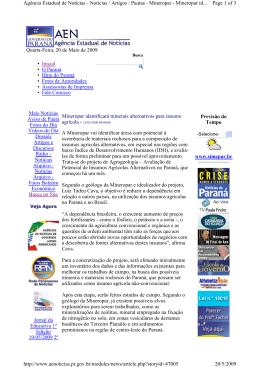 Quarta-Feira, 20 de Maio de 2009 Inicial • O Paraná • Hino do