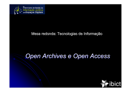 Open Archives e Open Access