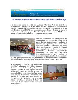 Estruturação de artigo para publicação internacional: o