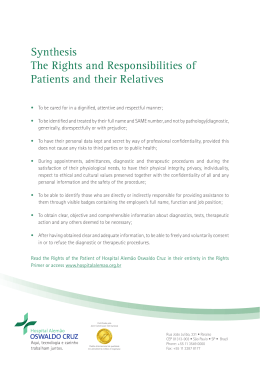 Synthesis The Rights and Responsibilities of Patients and their