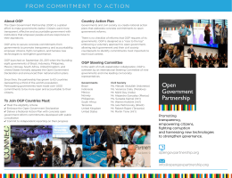 FROM COMMITMENT TO ACTION - Open Government Partnership