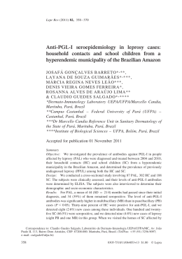 Anti-PGL-I seroepidemiology in leprosy cases: household