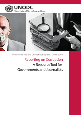 Reporting on Corruption A Resource Tool for Governments and