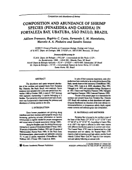 COMPOSITION AND ABUNDANCE OF SHRIMP SPECIES