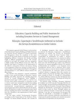 Editorial Education, Capacity Building and Public