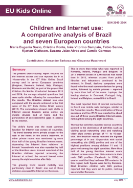 Children and Internet use: A comparative analysis of Brazil and