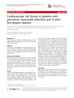 Cardiovascular risk factors in patients with premature myocardial