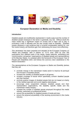 European Declaration on Media and Disability