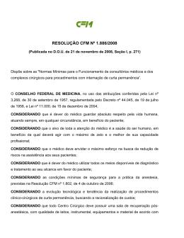 Resolução CFM nº 1886 de 2008