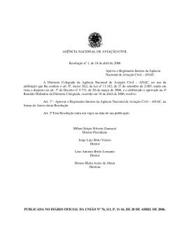 Resolução nº 1, de 18 de abril de 2006