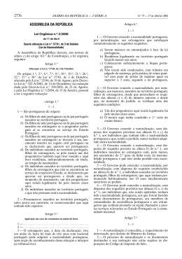 Lei Orgânica n.º 2/2006 - Portal das Comunidades Portuguesas