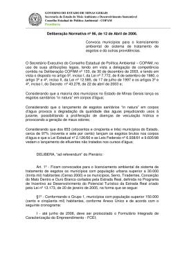 Deliberação Normativa nº 96, de 12 de Abril de 2006. Convoca