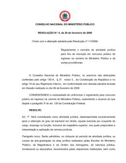 Anexo IV - Conselho Nacional do Ministério Público