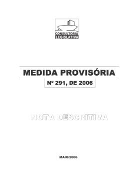 Medida Provisória nº 291/2006
