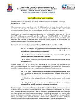 003/2012 - Adicional Insalubridade