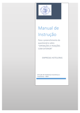 Manual Instrução Sobre Operações e Posições com Exterior Para