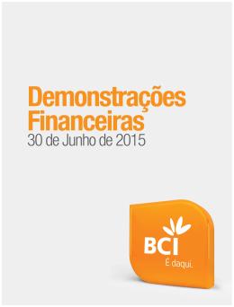 Demonstrações Financeiras - Junho 2015