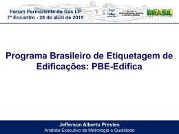 PBE-Edifica Apresentação realizada pelo Sr. Jefferson Prestes