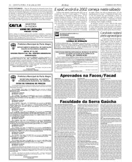 Aprovados na Facos/Facad Faculdade da Serra