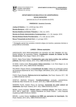 Novembro 2015 - Tribunal de Justiça do Estado do Rio Grande do Sul