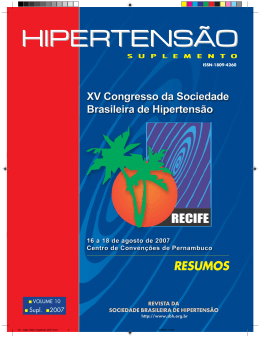 clique para baixar - Sociedade Brasileira de Hipertensão