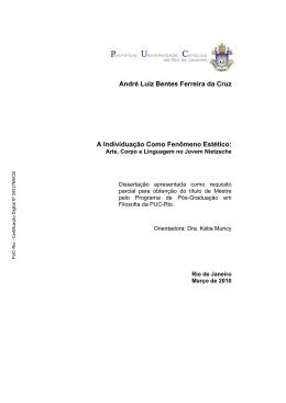 André Luiz Bentes Ferreira da Cruz A Individuação Como