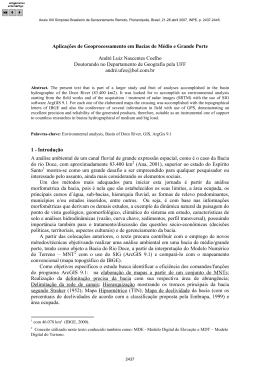 Aplicações de Geoprocessamento em Bacias de Médio e