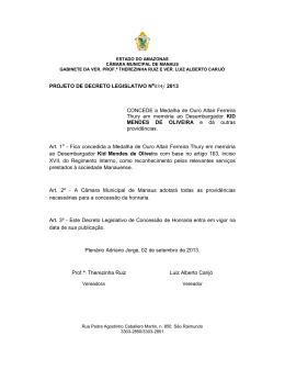 34/13 - Câmara Municipal de Manaus