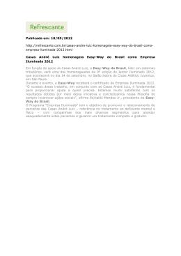 Publicada em: 10/09/2012 http://refrescante.com.br/casas-andre