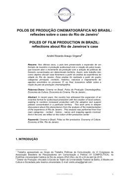 Polos de Produção Cinematográficos no Brasil