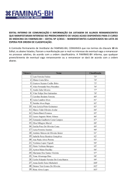 Lista de espera manifestantes classificados