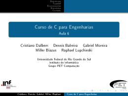 Curso de C para Engenharias - Instituto de Informática