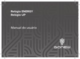 Manual do usuário Relógio ENERGY Relógio UP