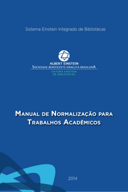 Manual de norMalização para Trabalhos acadêMicos