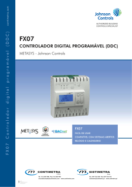 FX07 Controlador digital programável DDC - Johnson