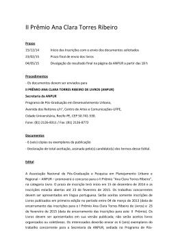 Prêmio Ana Clara Torres Ribeiro de Livros