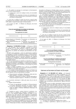 Despacho n.º 16903/2003 (2.ª série), de 2 de Setembro