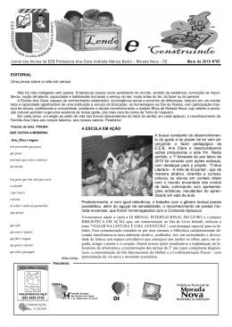Maio de 2010 Nº05 Jornal dos Alunos da EEB Professora Ana Clara